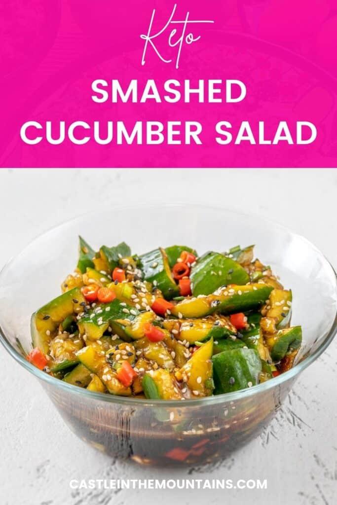 Keto Smashed Cucumber Salad Pins (4)