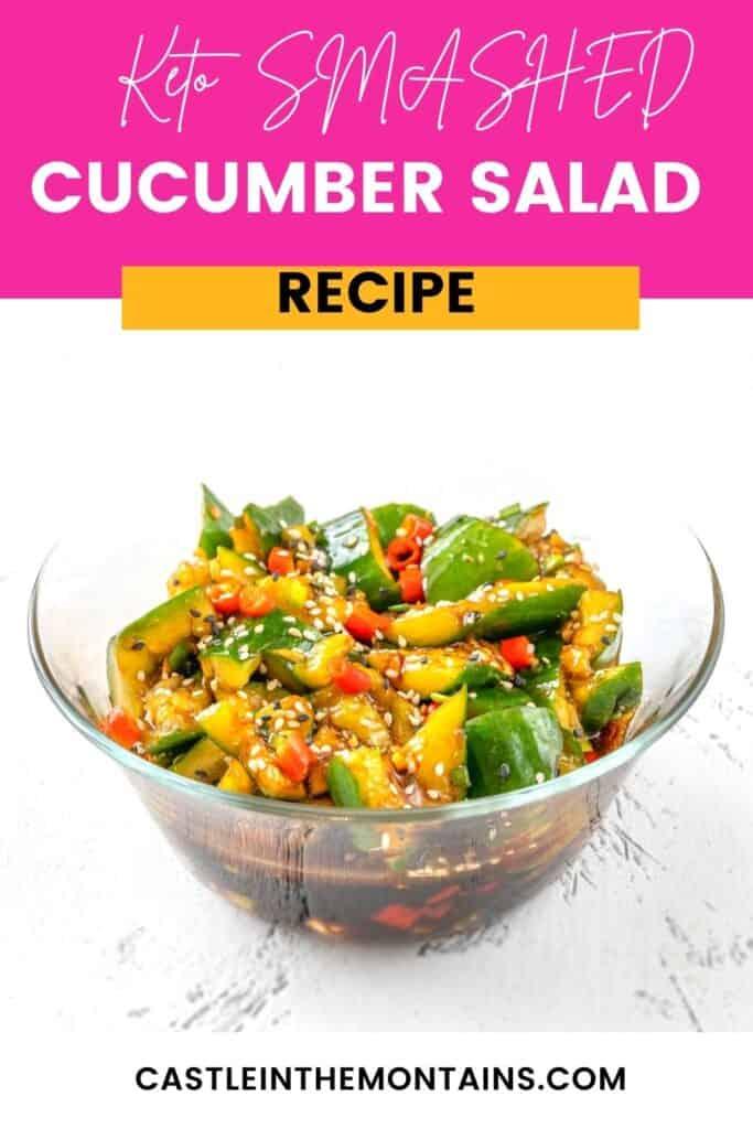 Keto Smashed Cucumber Salad Pins (5)