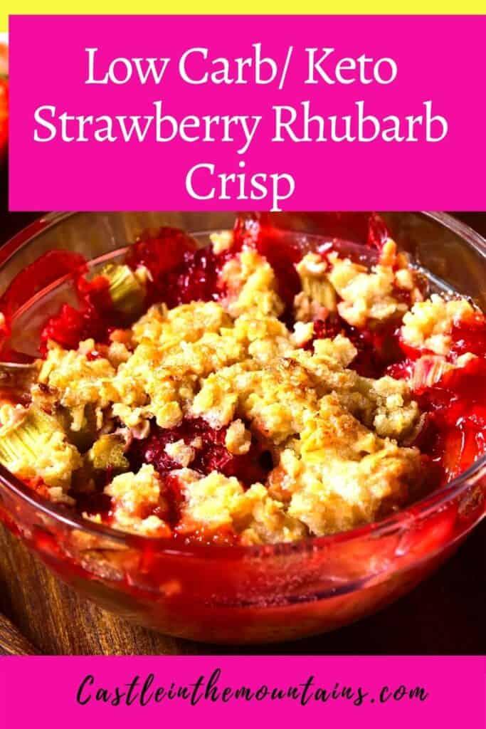 Keto Strawberry Rhubarb Crisp Pins (1)