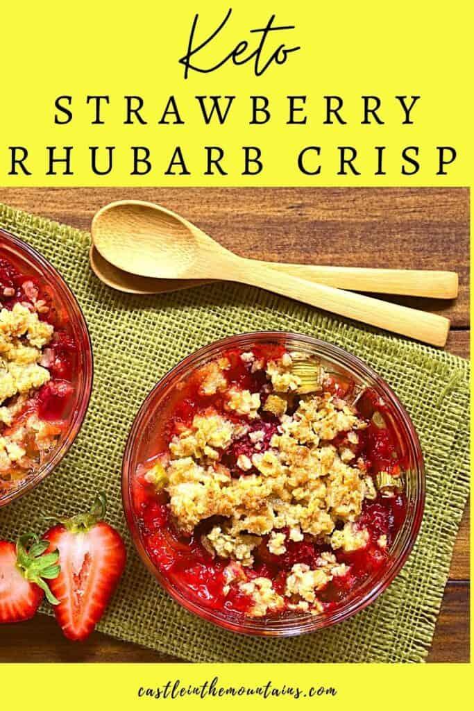 Keto Strawberry Rhubarb Crisp Pins (2)