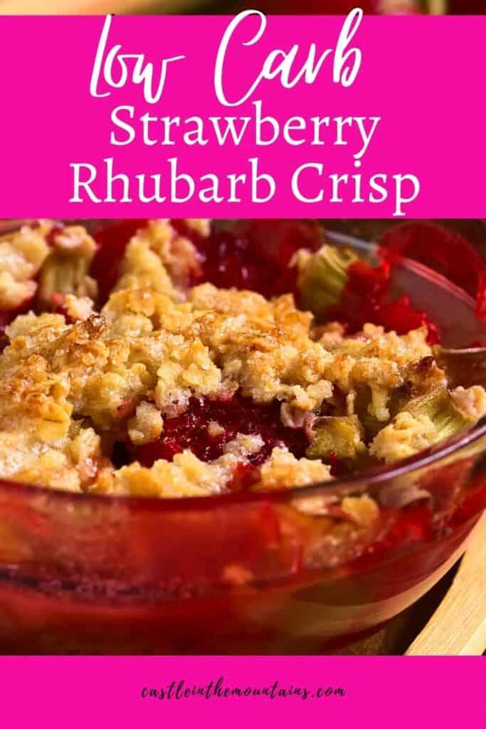 Keto Strawberry Rhubarb Crisp Pins (3)