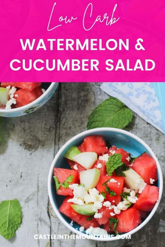 Low Carb Watermelon Salad Pins (4)