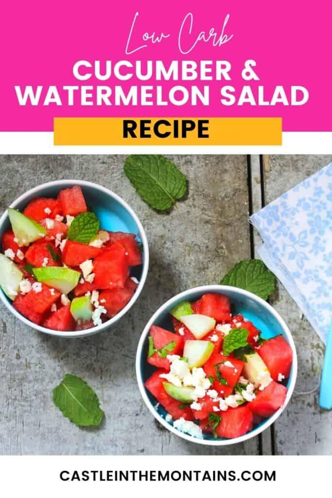 Low Carb Watermelon Salad Pins (5)