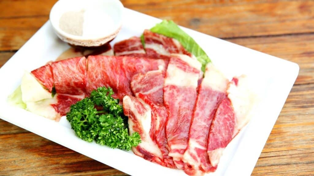 Sliced Raw Beef for an example