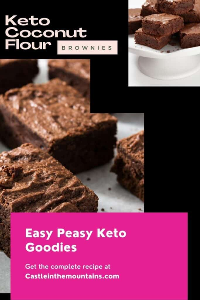 Keto Coconut Flour Brownies Pins (2)