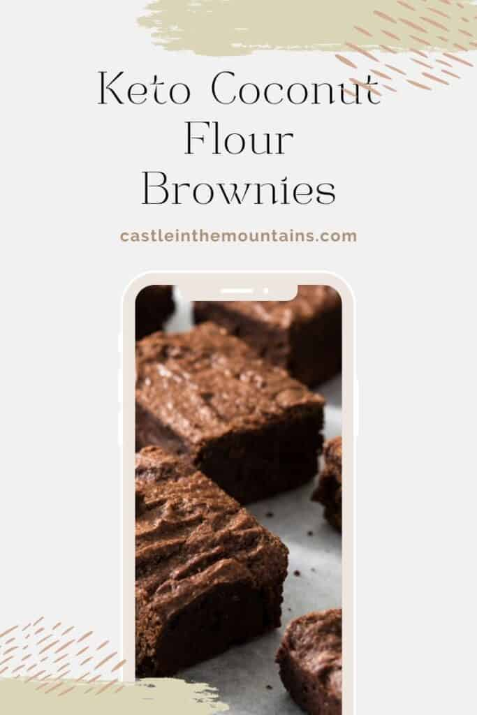 Keto Coconut Flour Brownies Pins (4)