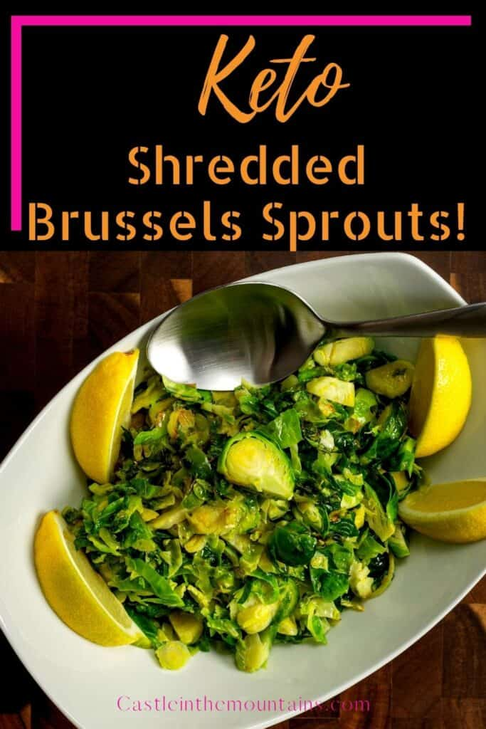 Shredded Brussels Sprouts on a plate